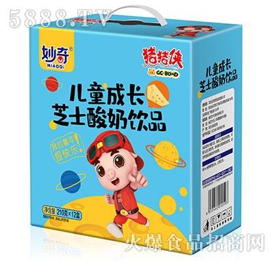 妙奇儿童成长芝士酸奶饮品210gx12盒