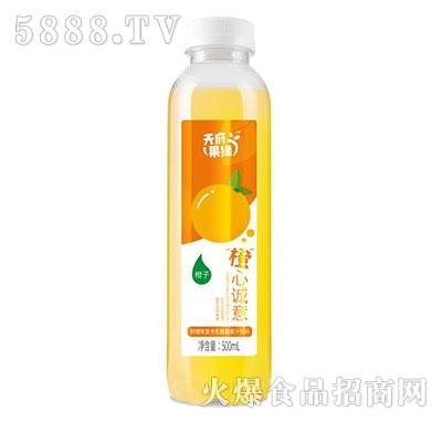 天府果缘鲜橙味复合乳酸菌饮料500毫升产品图