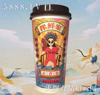 探鲜家蜜桃乌龙牛乳茶125g