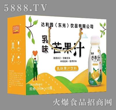芒果汁乳味果汁饮料310ml×12瓶