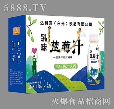 蓝莓汁乳味果汁饮料310ml×12瓶