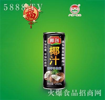 椰创椰汁椰子汁饮料245ml