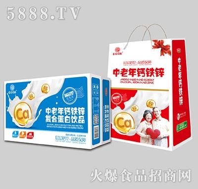 吉庆同福中老年钙铁锌复合蛋白饮品1x20盒标箱