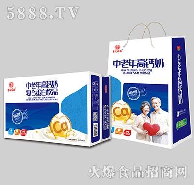 吉庆同福中老年高钙奶蛋白饮品1x20盒标箱