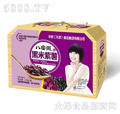 亲近福八宝粥黑米紫薯320g罐