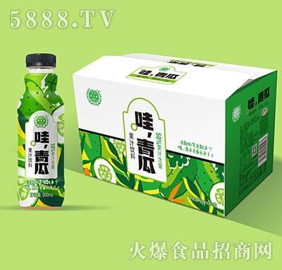 ���源哇青瓜果汁�料500mlx15