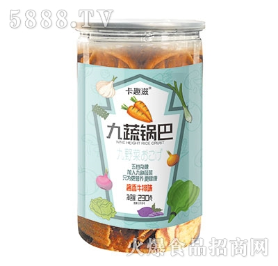 卡趣滋九蔬锅巴酱香牛排味230克