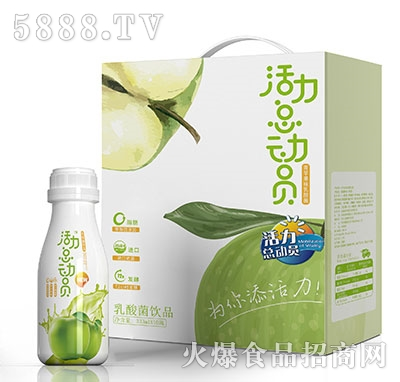 活力总动员青苹果味乳酸菌饮品333ml×10礼盒
