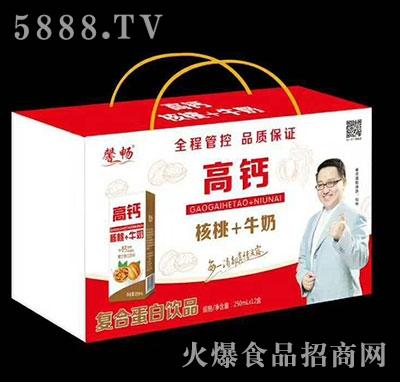馨畅高钙核桃+牛奶复合蛋白饮料250ml×12盒