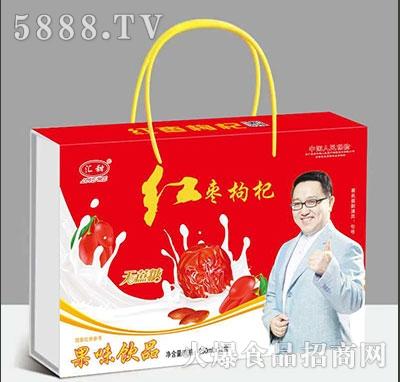 汇甜红枣枸杞果味饮品250ml×12盒