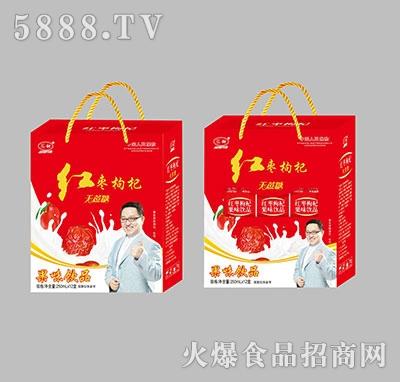 汇甜红枣枸杞果味饮料250ml×12盒