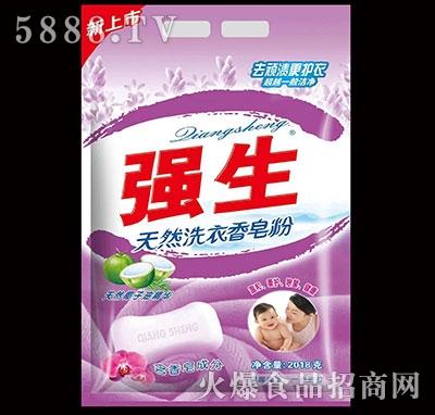 强生天然洗衣香皂粉2018g