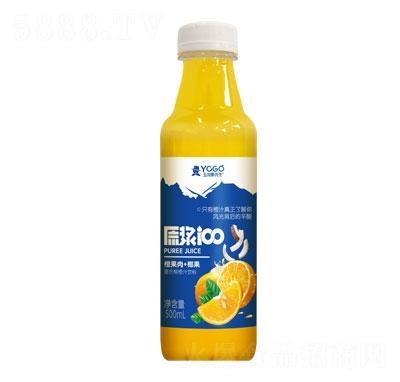 玉川果先生橙果肉+椰果复合柳橙汁饮料500ml
