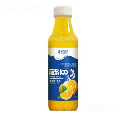 玉川果先生橙果肉+椰果复合柳橙汁饮料1L