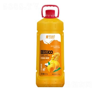 玉川果先生芒果粒+椰果复合芒果汁饮料2.5L