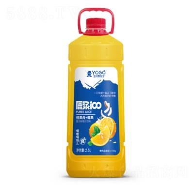 玉川果先生橙果肉+椰果复合芒果汁饮料2.5L