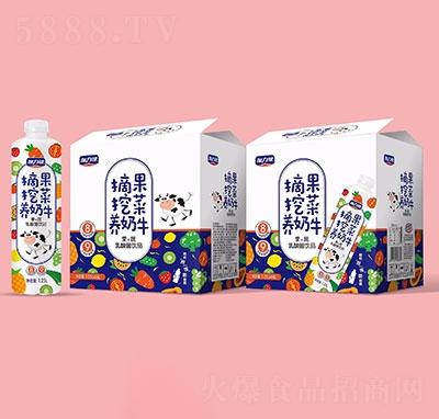 加力健摘果挖菜养奶牛果蔬乳酸菌饮品1.25Lx6瓶