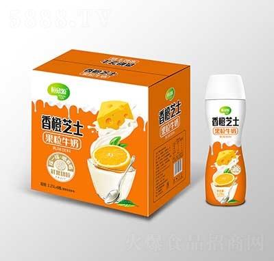 恒欣源香橙芝士果粒牛奶1.25Lx6瓶