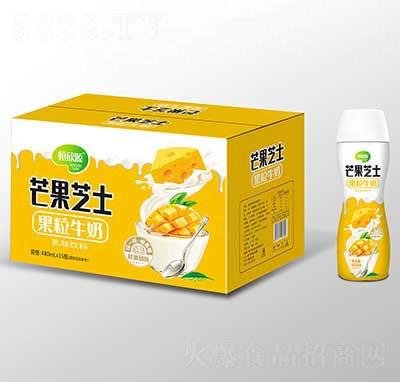恒欣源芒果芝士果粒牛奶480mlx15瓶