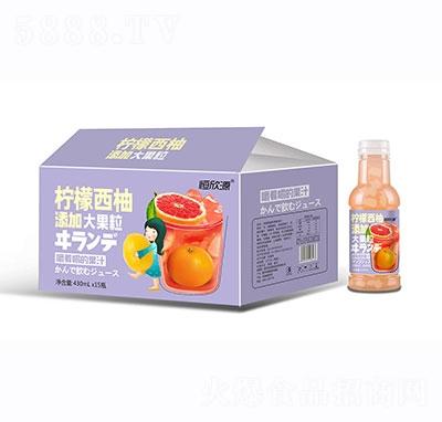 恒欣源柠檬西柚果汁430mlx15瓶