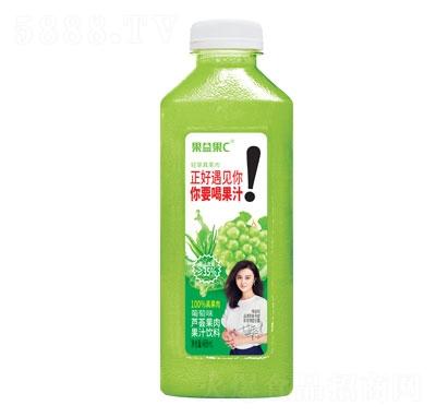 果益果C芦荟果肉果汁饮料488ml