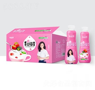 味益纯手打奶昔混合莓椰果奶味饮料420mlX15