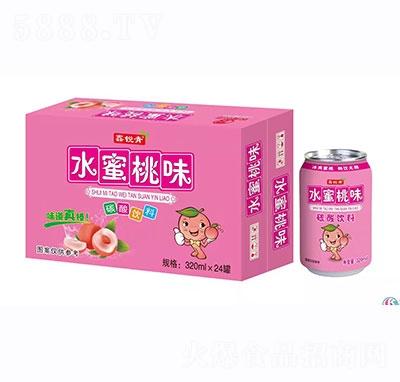 鑫锐青水蜜桃果味饮料320mlx24罐