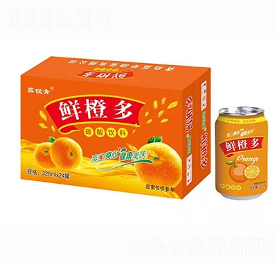 鑫锐青鲜橙多320mlx24罐