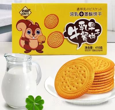 心贻牛乳早餐饼干410克