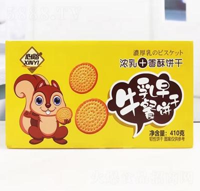 心贻牛乳早餐饼干410g