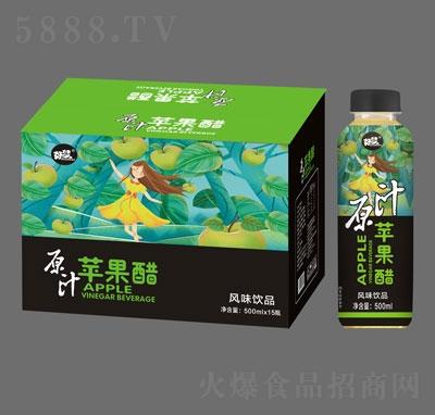 好梦原汁苹果醋风味饮品500mlX15