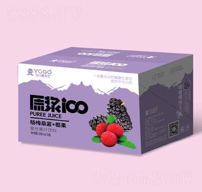 玉川果先生杨梅桑葚+椰果复合果汁饮料500mlX15
