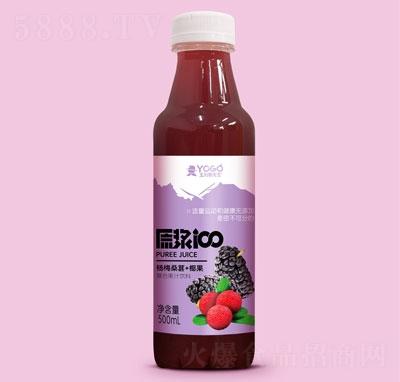 玉川果先生杨梅桑葚+椰果复合果汁饮料500ml