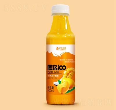 玉川果先生芒果粒+椰果复合芒果汁饮料500ml