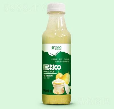 玉川果先生银耳炖雪梨梨汁饮料1L