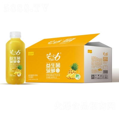 芒小6益生菌菠萝汁饮料420mlX15瓶