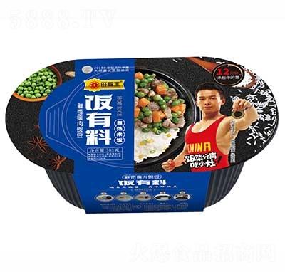 旺福王饭有料自热米饭鲜香瘦肉豌豆381g