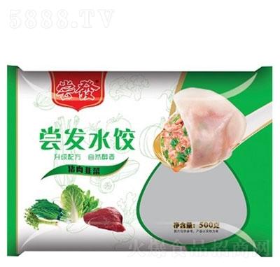 尝发猪肉韭菜水饺500g