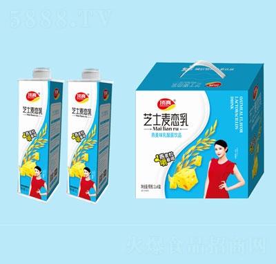 顶真芝士燕麦味乳酸菌1L×6盒