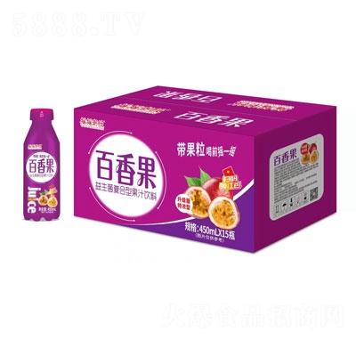 摇摇潮饮百香果益生菌复合型果汁饮料450mlX15