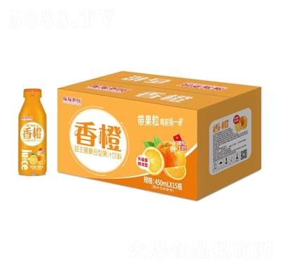 摇摇潮饮香橙益生菌复合型果汁饮料450mlX15瓶