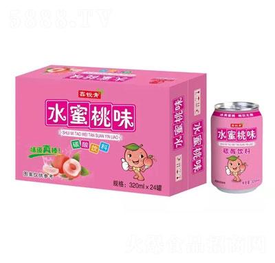 鑫锐青水蜜桃味碳酸饮料320mlX24