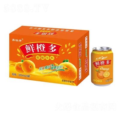 鑫锐青鲜橙多碳酸饮料320mlX24