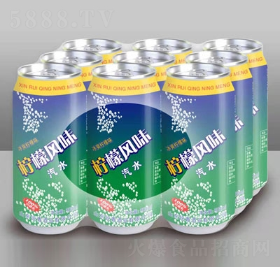 锐青饮品柠檬风味汽水
