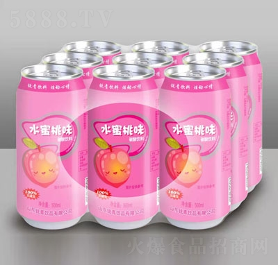 锐青饮品水蜜桃味碳酸饮料