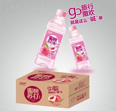 发财雨蜜桃苏打饮料350mlX24