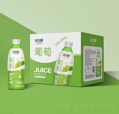�口妙葡萄果粒果汁�料1.25Lx6瓶