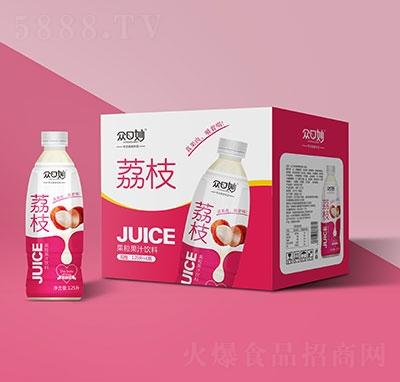 �口妙荔枝果粒果汁�料1.25Lx6瓶