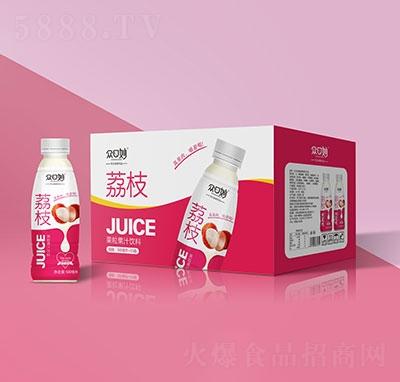 �口妙荔枝果粒果汁�料500mlx15瓶