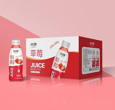 �口妙草莓果粒果汁�料500mlx15瓶